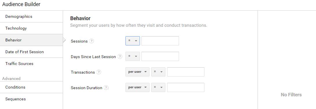 Google Analytics remarketing lists