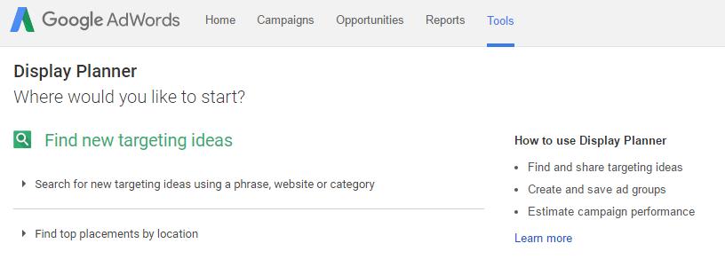 Google Display Planner