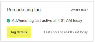 Remarketing tag