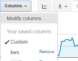 quality score reports - custom columns