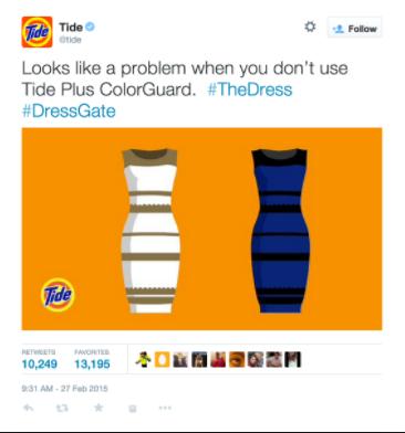 Tide ad - the dress