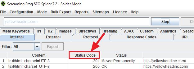 screaming-frog-status-code