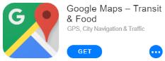 Google Maps app title
