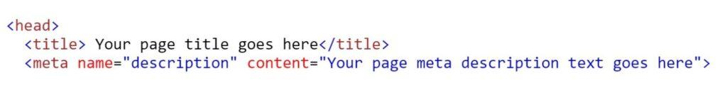 meta title and description markup example